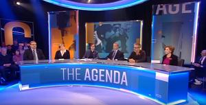 Grab of The Agenda panel 7 Nov
