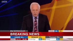 David Dimbleby announces Brexit result