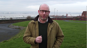 Picture of Paul Nuttall from his New Year video
