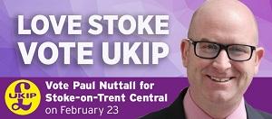 Paul Nuttall Stoke banner
