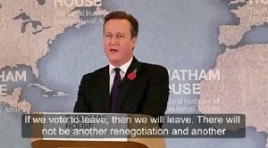 David Cameron Chatham House