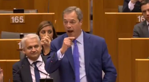 Nigel Farage in EU Parliament