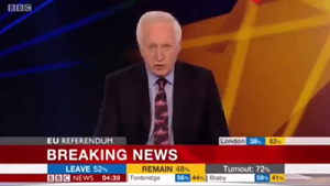 David Dimbleby announces Brexit result