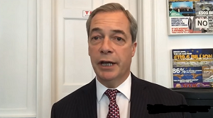 Picture of Nigel Farage from his New Year video