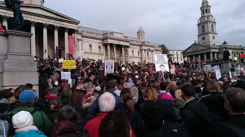 Trafalgar Square protest 26th September