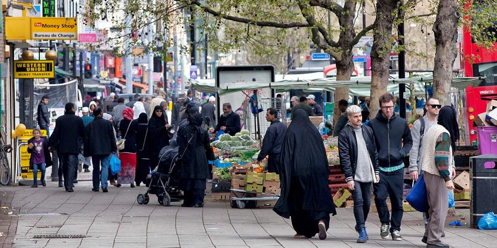 A diverse street in London